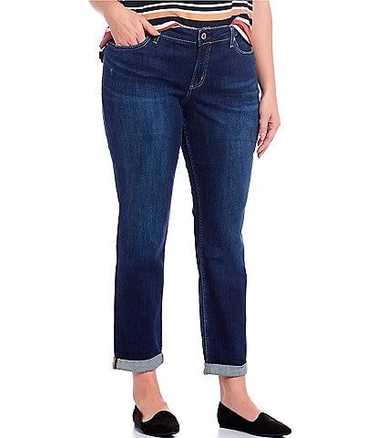 Silver Jeans Co. Plus Size Slim Boyfriend Jeans