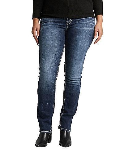Silver Jeans Co. Plus Suki Mid Straight Leg Jeans