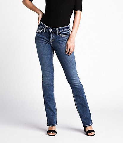 Silver Jeans Co. Suki Faux Flap Pocket Slim Bootcut Jeans