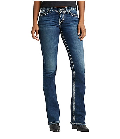 Silver Jeans Co. Suki Signature Scroll Bootcut Jeans