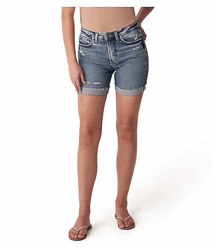 Silver Jeans Co. Sure Thing Rolled Cuff Mid Length Shorts