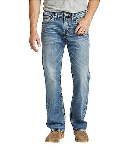 Silver Jeans Co. Zac Relaxed-Fit Straight-Leg Stretch Denim Jeans