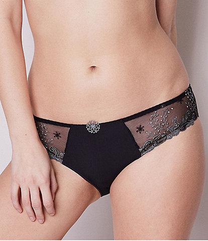 Simone Perele Delice Floral-Embroidered Bikini Panty