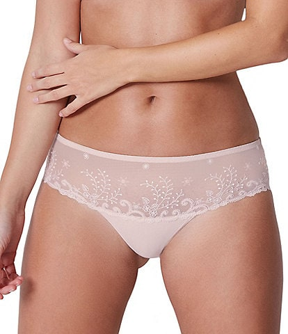 Simone Perele Delice Floral-Embroidered Boy Short