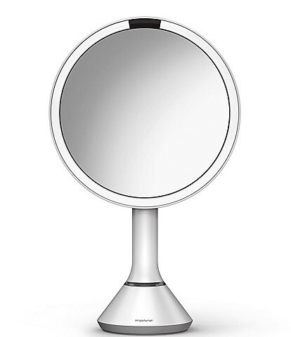 simplehuman 8#double; White Sensor Lighted Mirror With Brightness Control