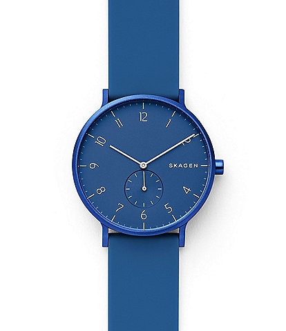 Skagen Aaren Kulor Blue Silicone Watch