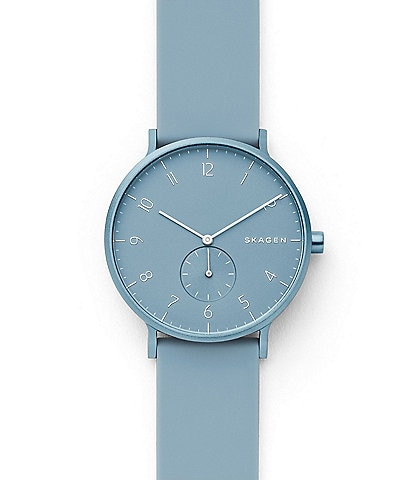 Skagen Aaren Kulor Light Blue Silicone Watch