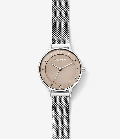 Skagen Anita Steel-Mesh Analog Watch
