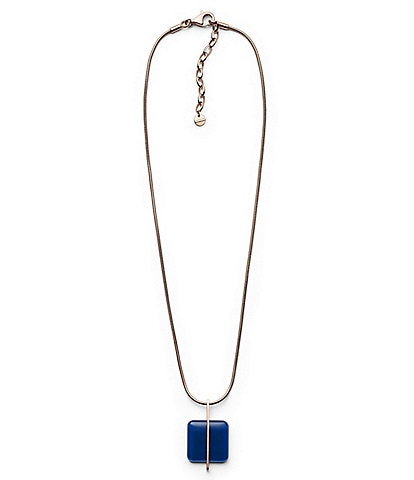 Skagen Blue Sea Glass Pendant Necklace