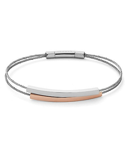 Skagen Elin Two Tone Cable Bracelet