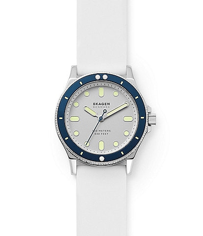 Skagen Fisk Three-Hand White Silicone Watch