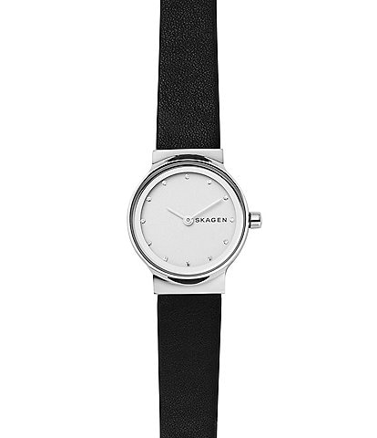 Skagen Freja Analog Leather-Strap Watch