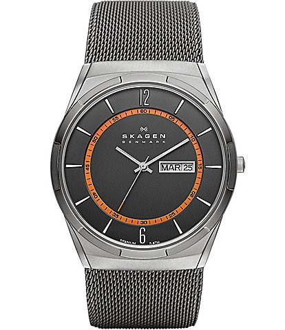 Skagen Melbye Steel Mesh and Titanium Watch
