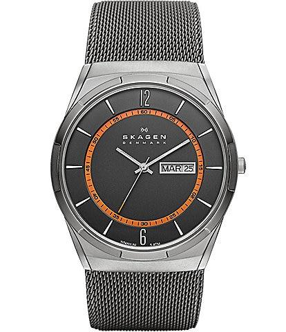 Skagen Melbye Steel Mesh and Titanium Watch