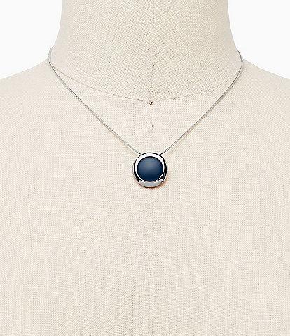 Skagen Sea Glass Silver-Tone Necklace