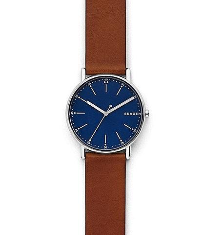 Skagen Signature Brown Leather Watch
