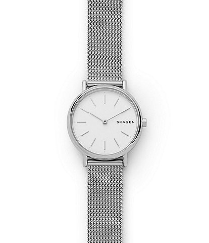 Skagen Signature Slim Steel-Mesh Quartz Analog Watch