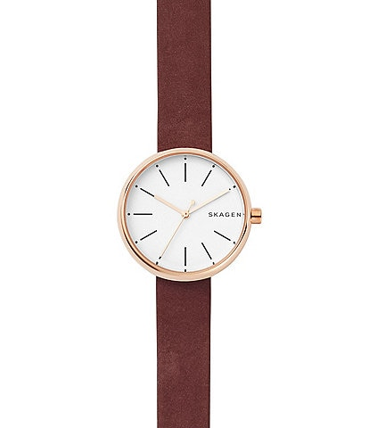 Skagen Signature Limited Edition Chinese New Year Maroon Leather Watch