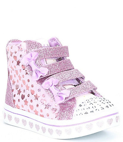 Skechers Girls' Twi-Lites Heather & Shine Lighted Sneakers (Infant)