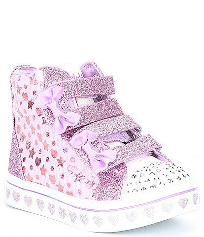 Skechers Girls' Twi-Lites Heather & Shine Lighted Sparkle Sneakers (Toddler)