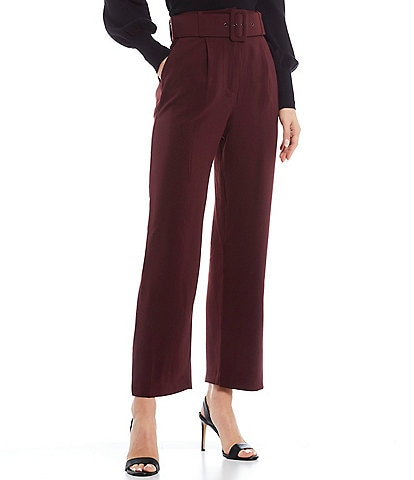 Skies Are Blue Pleat Front Belted Pants