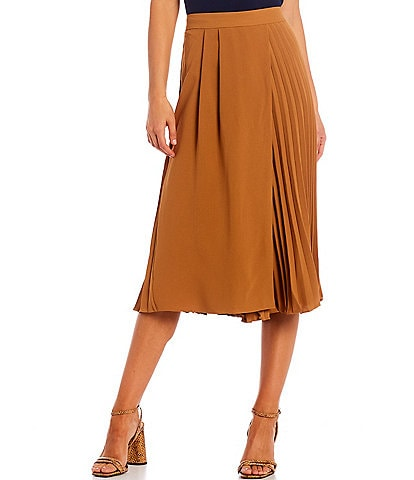Skies Are Blue Wide Leg Solid Pleated Waistband Pants