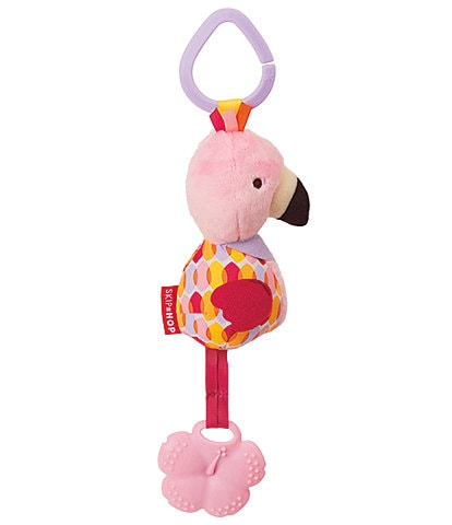 Skip Hop Bandana Buddies Chime & Teethe Toy - Flamingo
