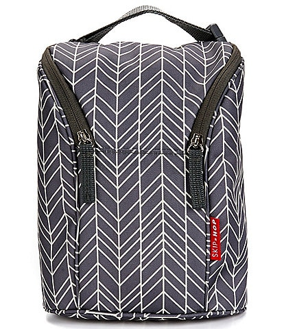 Skip Hop Grab and Go Double Leaf Printed Bottle Bag