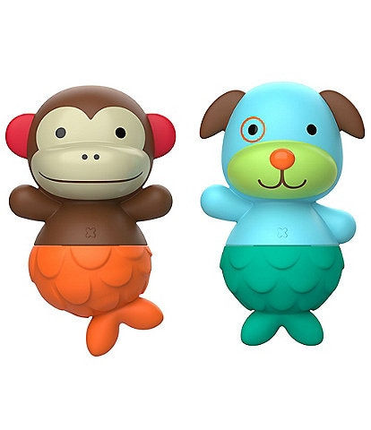 Skip Hop ZOO Mix & Match Flippers - Monkey/Dog Bathtime Toys