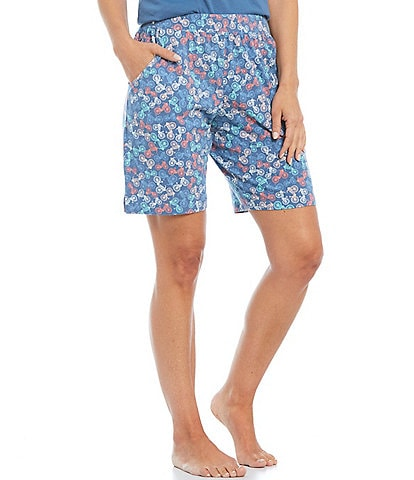 Sleep Sense Bicycle Print Bermuda Knit Sleep Shorts