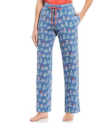 Sleep Sense Bicycle-Printed Knit Sleep Pants