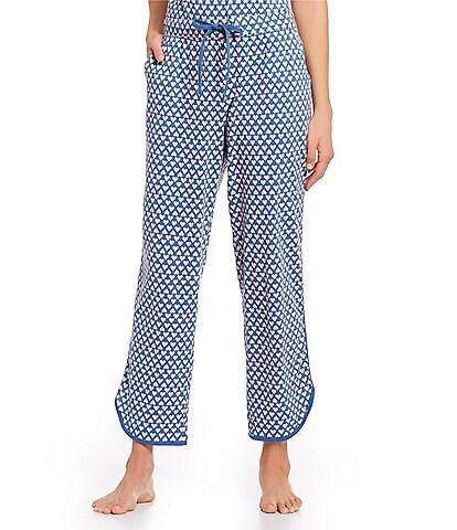 Sleep Sense Multi Hearts-Printed Capri Knit Sleep Pants