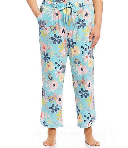 Sleep Sense Plus Floral Bright-Printed Capri Sleep Pants