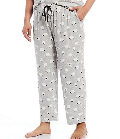 Sleep Sense Plus Fluffy Sheep Print Jersey Knit Sleep Pants