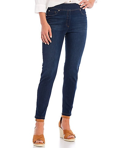 Slim Factor by Investments Classic Waist Denim Ankle Pants