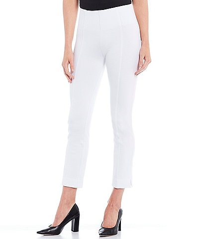 Slim Factor by Investments Ponte Knit No-Waist Ankle Pants