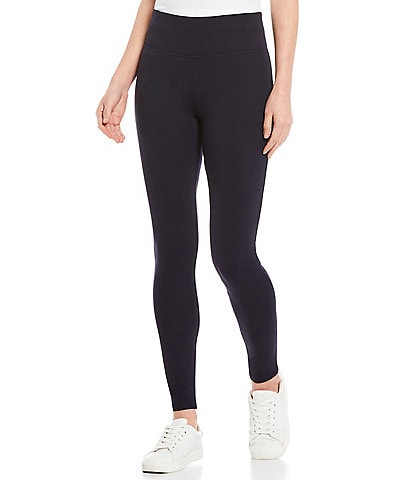 Slim Factor by Investments Ponte Knit Wide Waist Leggings