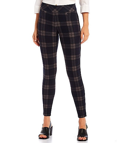 Slim Factor by Investments Plaid Classic Waist Leggings