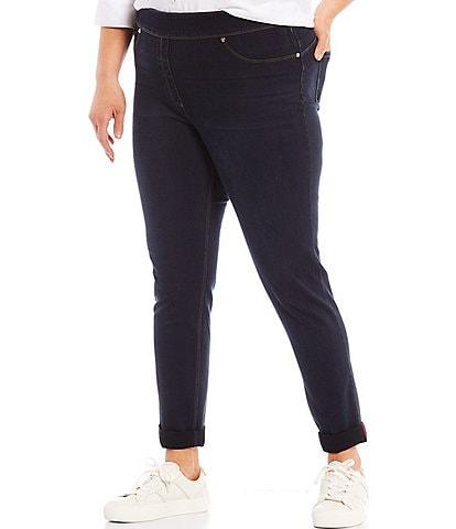 Slim Factor by Investments Plus Size Classic Waist Denim Skinny Cuff Legging
