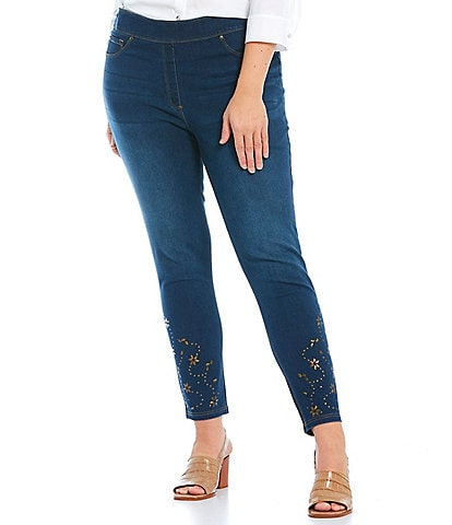 Slim Factor by Investments Plus Size Classic Waist Pull-On Skinny Jeans