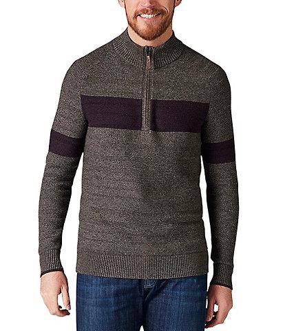 SmartWool Ripple Ridge Stripe Quarter-Zip Sweater