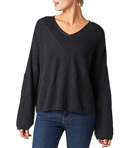 SmartWool Shadow Pine Cable Knit V-Neck Sweater