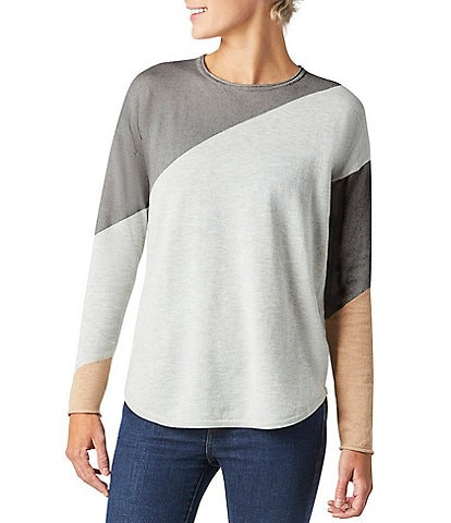 SmartWool Shadow Pine Colorblock Long Sleeve Sweater