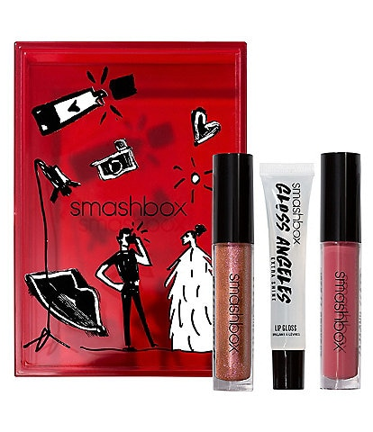 smashbox Gloss Angeles Full-Size Hydrating Lip Gloss Trio Holiday Set