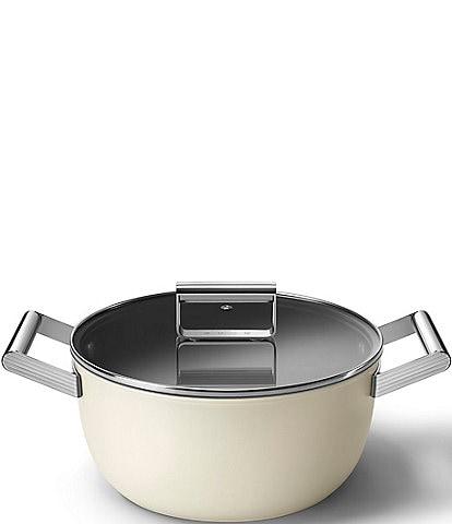 Smeg 50s Retro Style Nonstick 5-Quart Casserole w/Lid