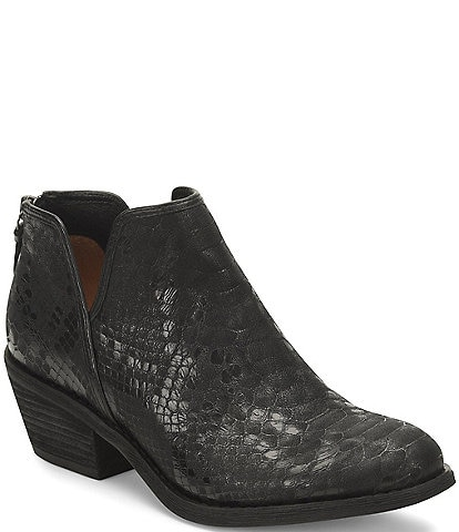 Sofft Abena Snake Print Leather Booties