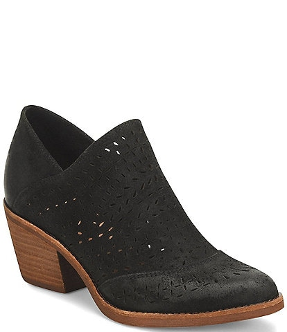 Sofft Amberly Suede Laser-Cut Western Inspired Booties