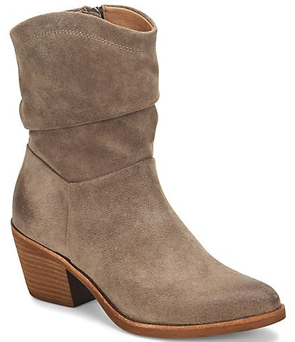 Sofft Aronna Waterproof Suede Western Inspired Slouch Boots