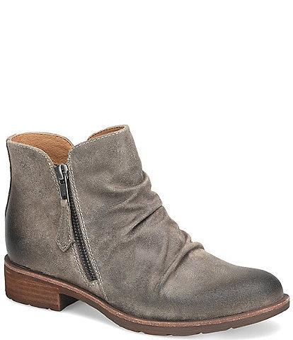 Sofft Bassett Waterproof Leather Ruched Booties