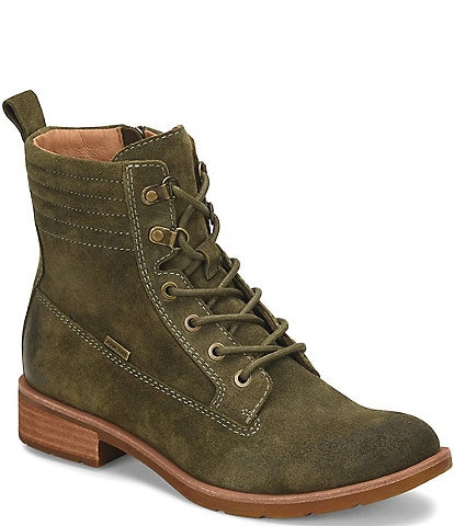 Sofft Baxter Waterproof Suede Lace-Up Hiker Block Heel Boots